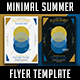 Minimal Summer Flyer Template V2 - GraphicRiver Item for Sale