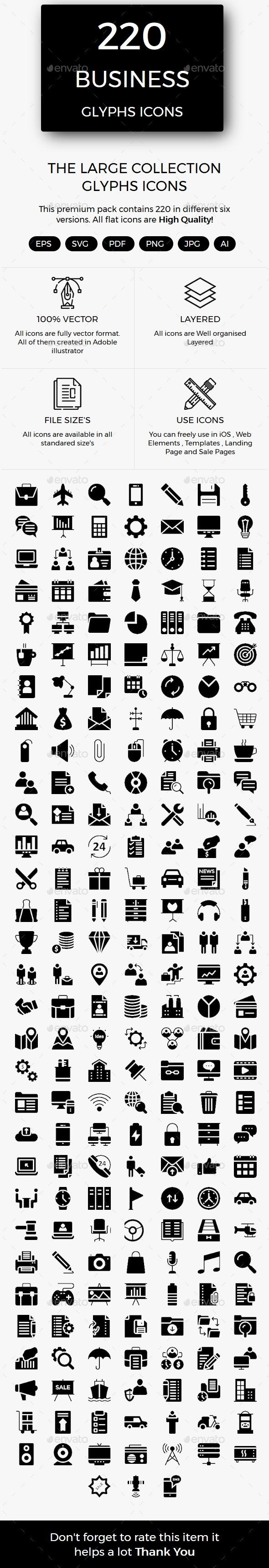 220 Business Material Icons - Business Icons