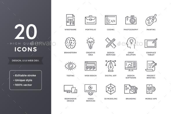Design Line Icons - Miscellaneous Icons