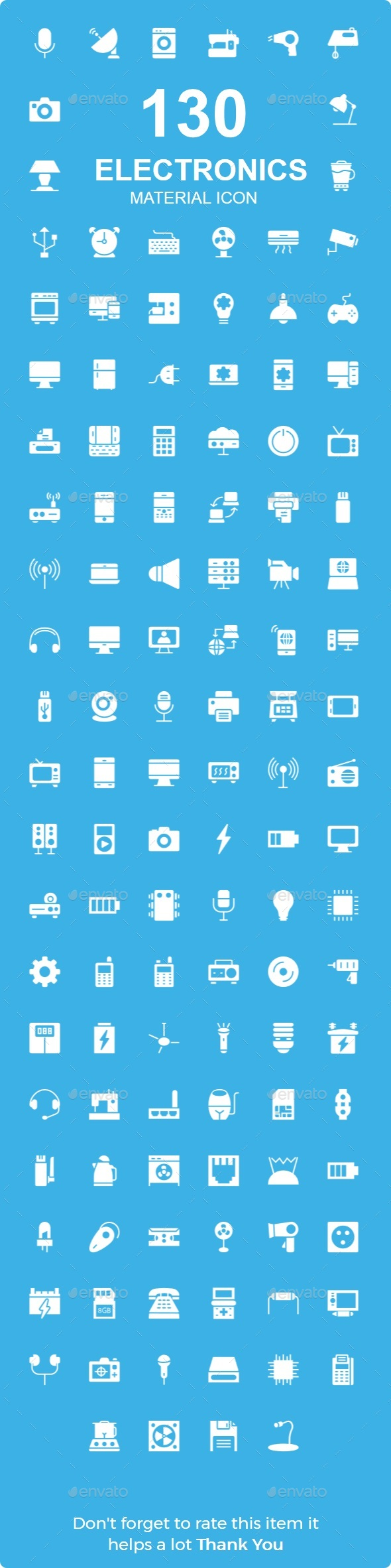 Electronics Material Icons - Web Icons