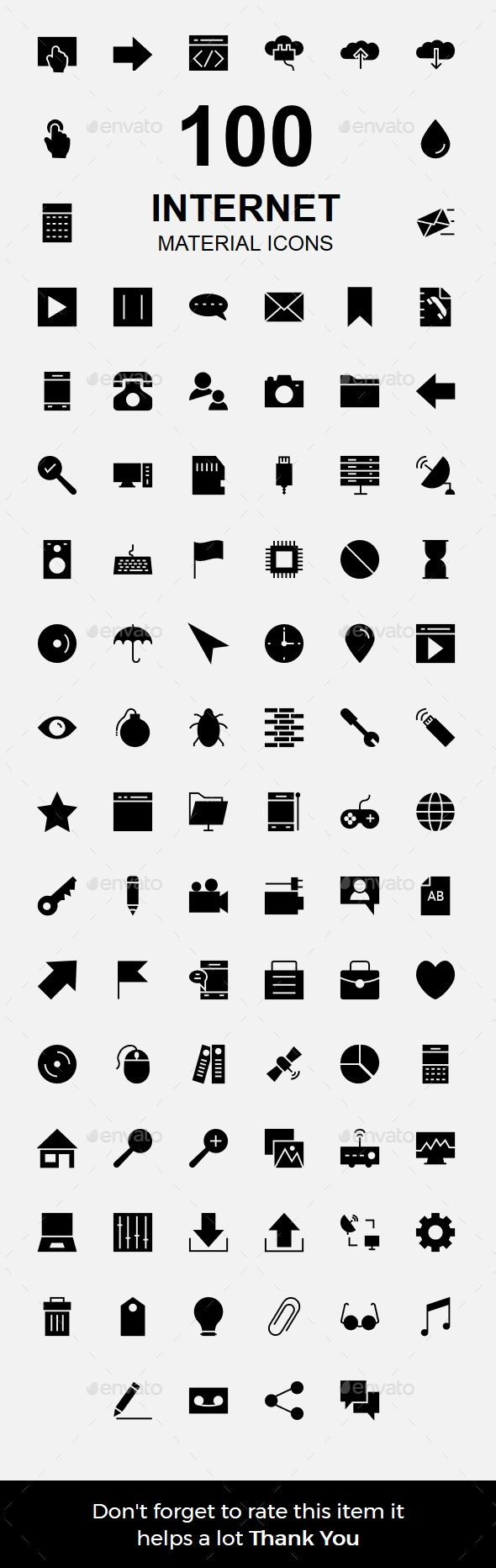 Internet Material Icons - Technology Icons