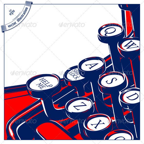 Typewriter Keyboard Retro Style  - Retro Technology