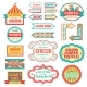 Circus Vintage Signboard Labels Banner Vector - GraphicRiver Item for Sale
