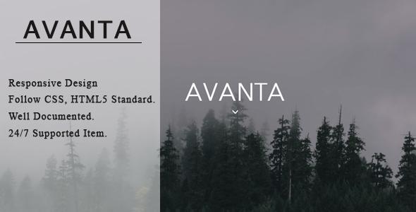 Avanta - Portfolio Template