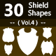 30 Shields Photoshop Vector Custom Shapes ( Vol.4 ) - GraphicRiver Item for Sale