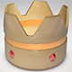 Crown with red diamonds