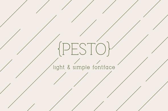 Pesto - Sans-Serif Fonts