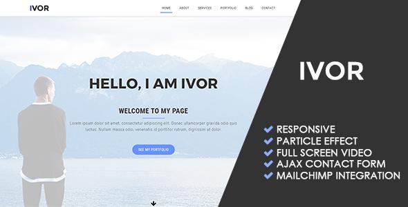 Ivor | Personal Portfolio Template