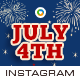 Fourth of July Instagram Templates - 10 Designs - GraphicRiver Item for Sale