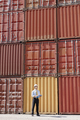 businessman with cargo containers - PhotoDune Item for Sale