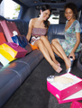 women shopping in limousine - PhotoDune Item for Sale