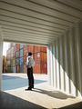business man with shipping containers - PhotoDune Item for Sale