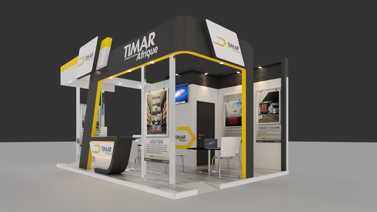 Exhibition Booth 3D Model By Marzouq3d 3DOcean