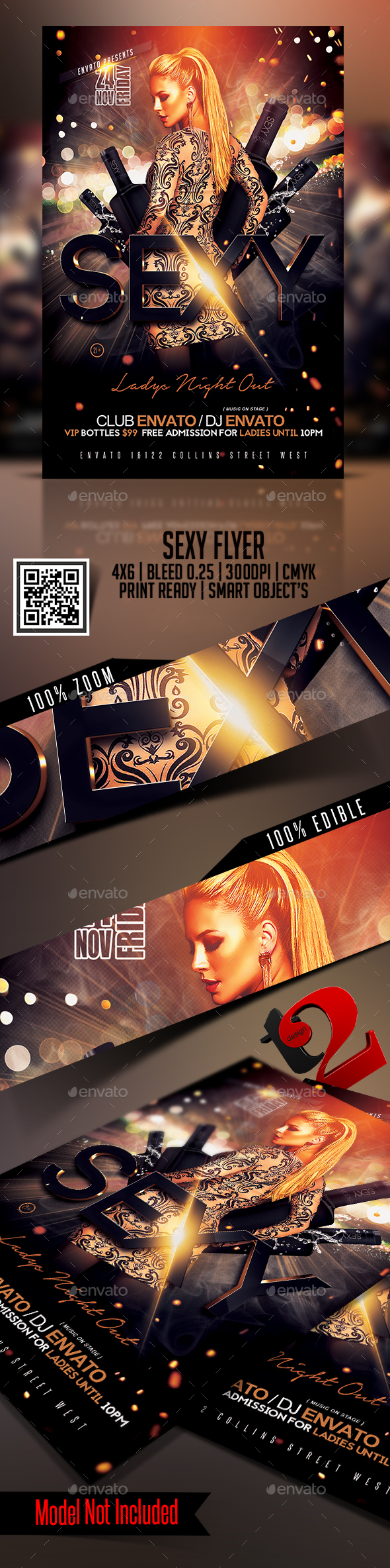 Sexy Lady's Night Out Flyer Templates - Clubs & Parties Events