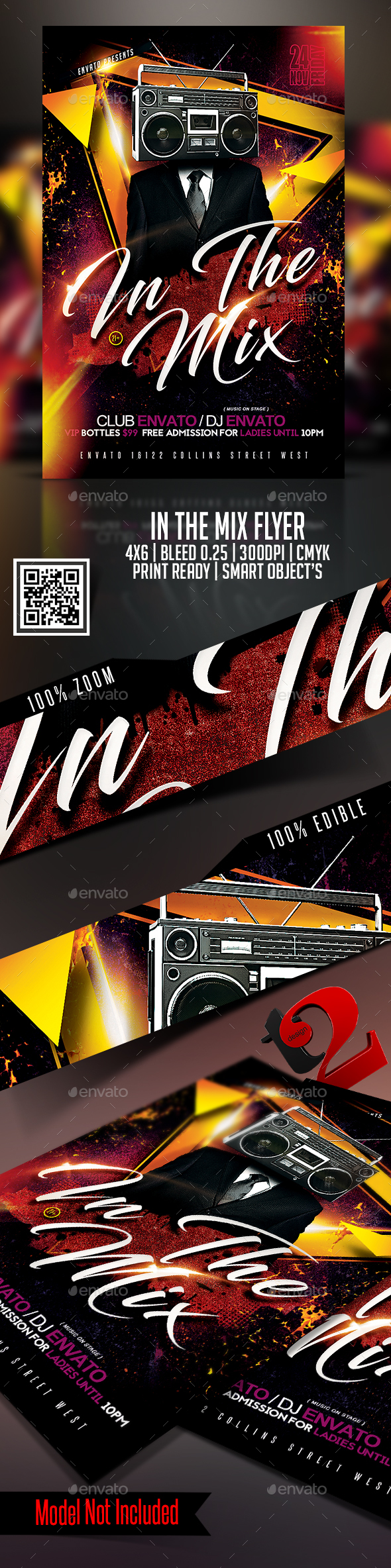 In The Mix Flyer Templates - Clubs & Parties Events