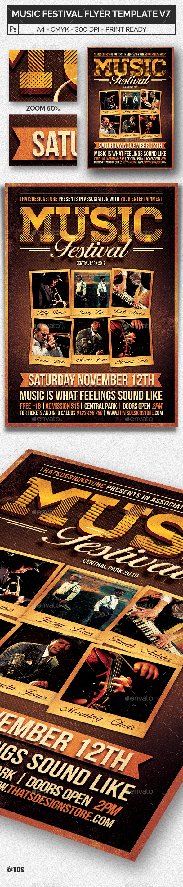 Music Festival Flyer Template V7 - Concerts Events