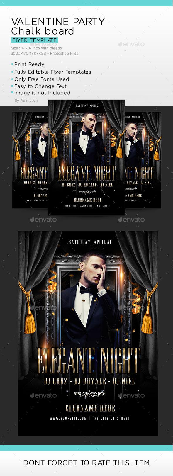 Elegant Night flyer - Events Flyers