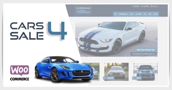 Cars4Sale - Automotive Car Dealership WordPress Theme