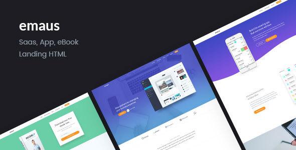 Emaus | SaaS, WebApp, Ebook Responsive Landing Page HTML