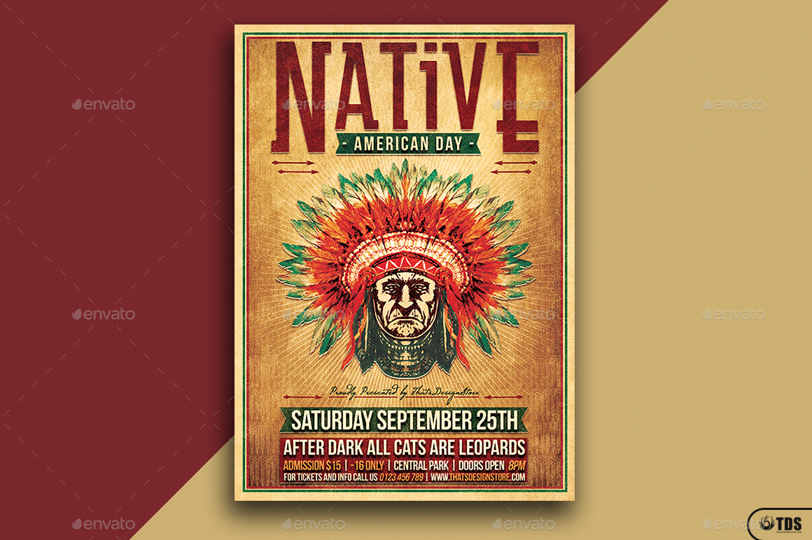 Native american day flyer template by lou606 graphicriver 01 native american day flyer templateg toneelgroepblik Images