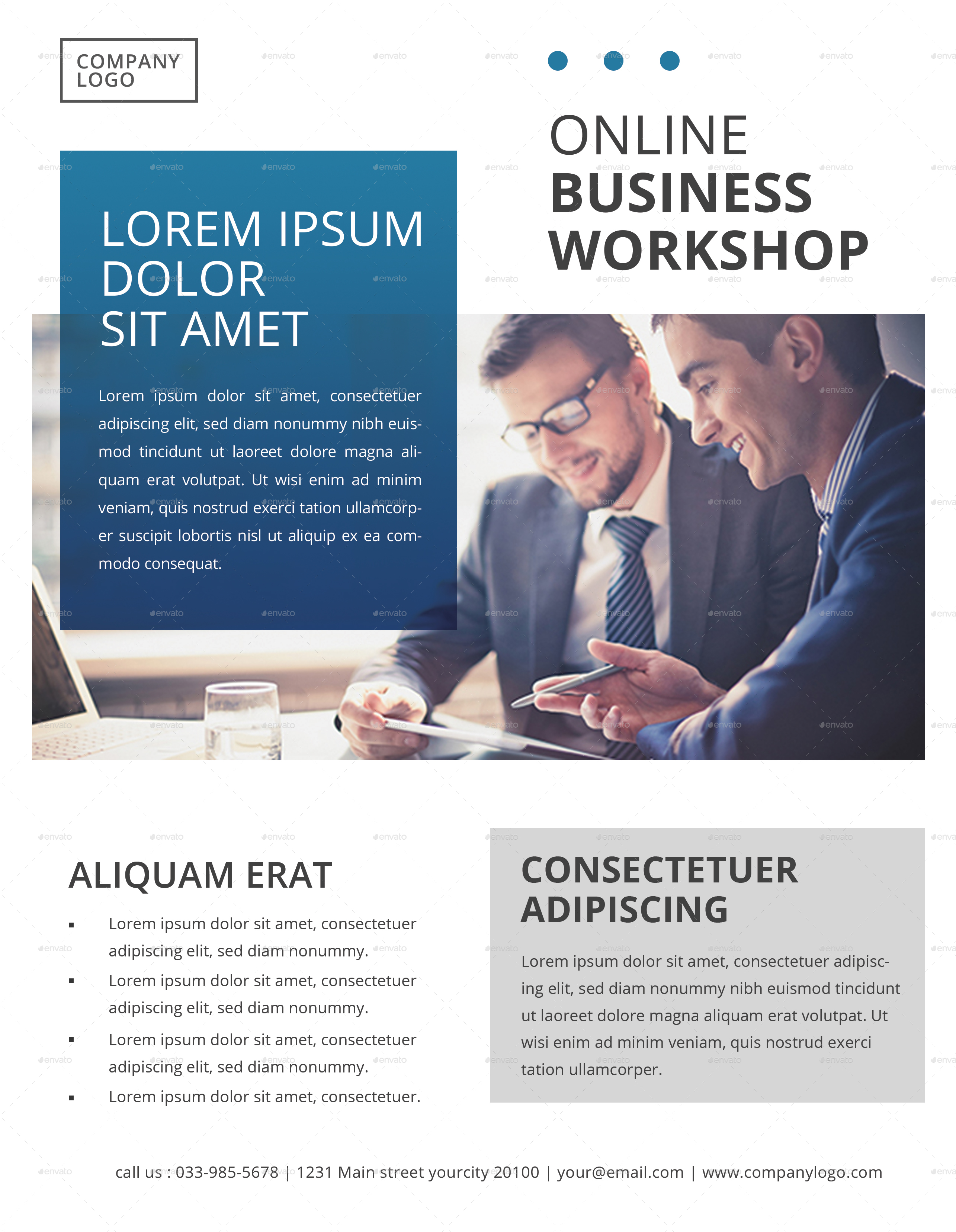 Multipurpose Corporate Flyer Template By Lilynthesweetpea GraphicRiver - Company flyer template