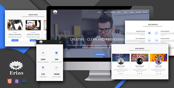 Erizo - Material Design Multipurpose Template