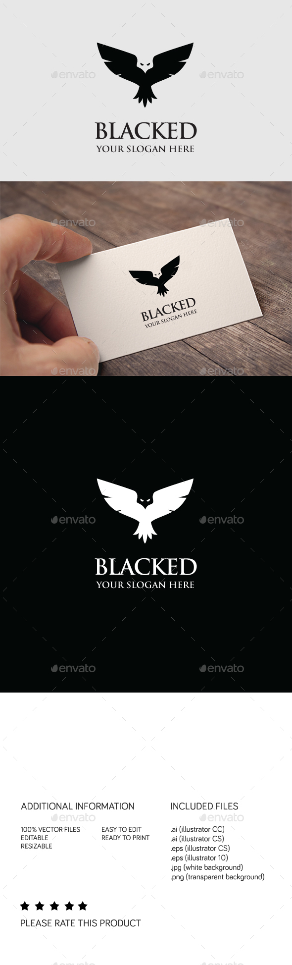 Blacked Logo - Animals Logo Templates