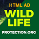 Wild Life Protection NGO Organization HTML Banner - CodeCanyon Item for Sale