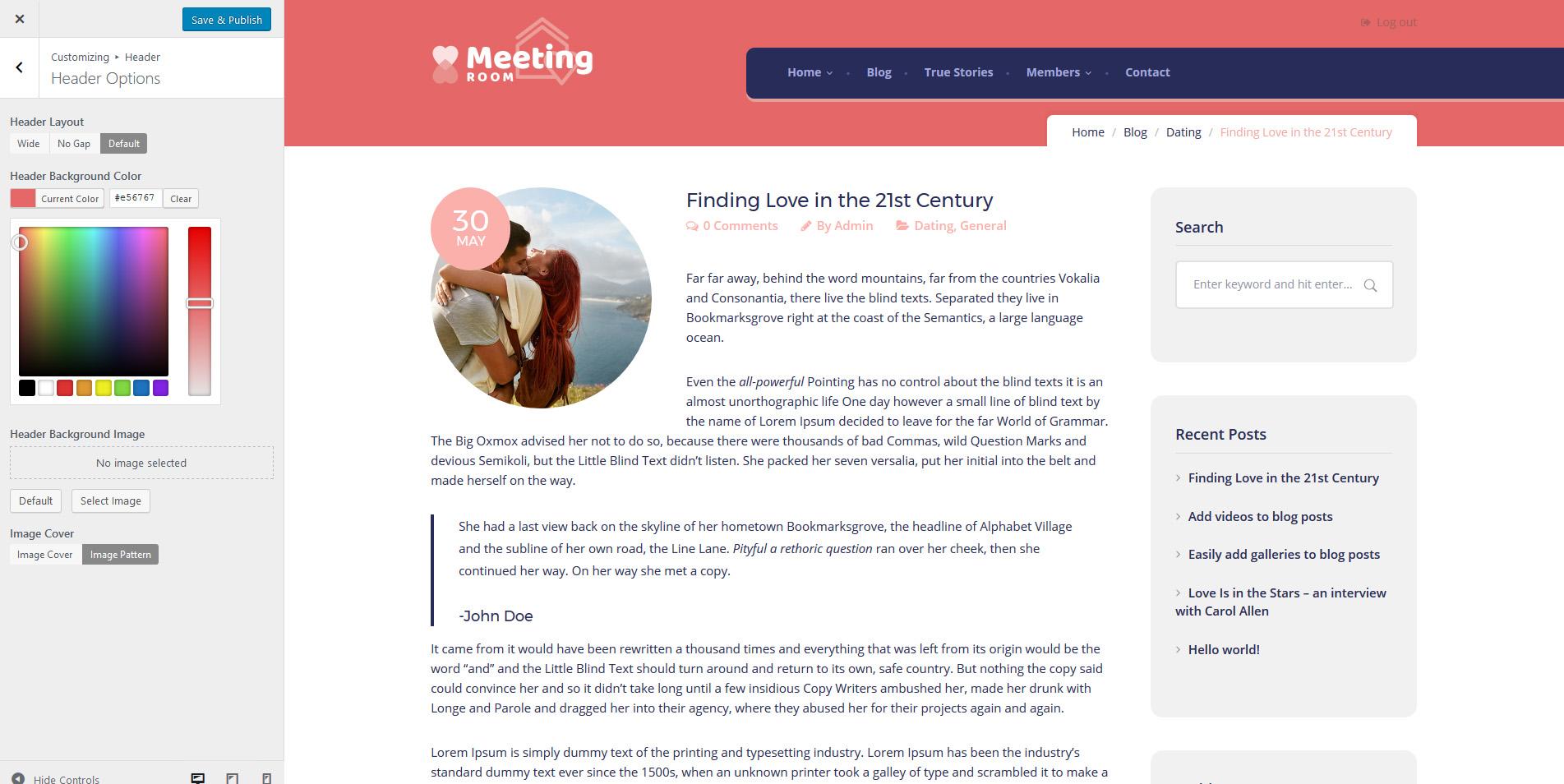 Dating plugin for buddypress