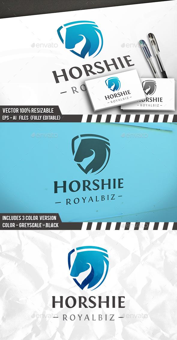 Horse Shield Logo - Animals Logo Templates