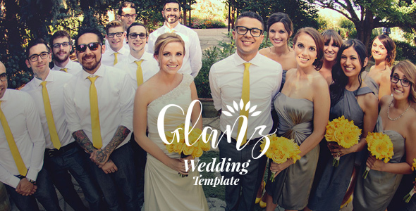 Glanz - Wedding Template - Wedding Site Templates