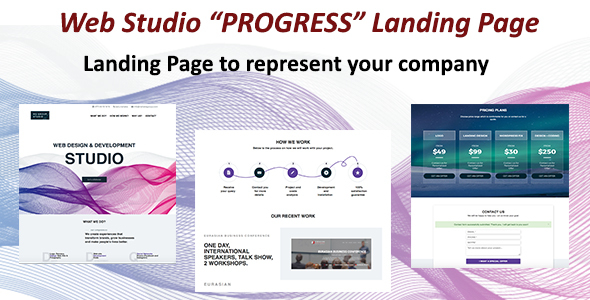 ThemeForest WebStudio Progress Landing Page 19997667