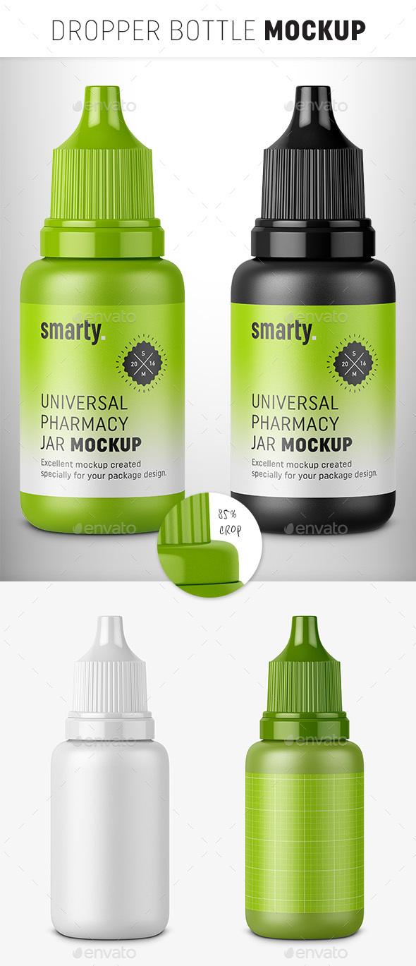 GraphicRiver Plastic Dropper Bottle Mockup 20225692