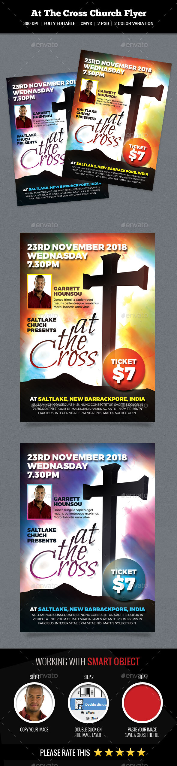 GraphicRiver At The Cross Church Flyer 20225723