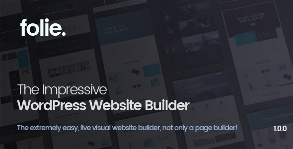 Folie | The WordPress Website Builder - Business Corporate