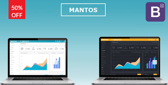Image of Mantos - Responsive Bootstrap 4 Admin Template