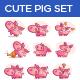 Pig Set - GraphicRiver Item for Sale