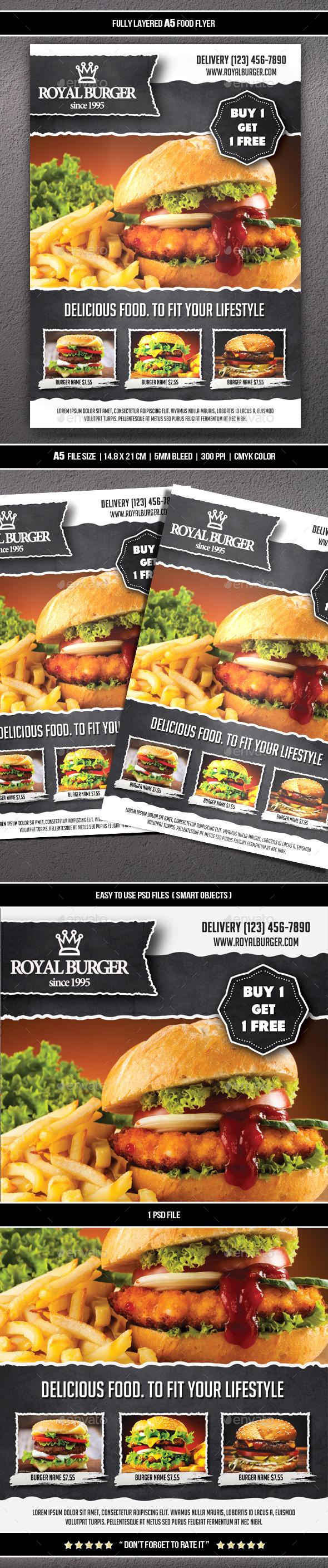 Food Flyer 11 (A5) - Restaurant Flyers