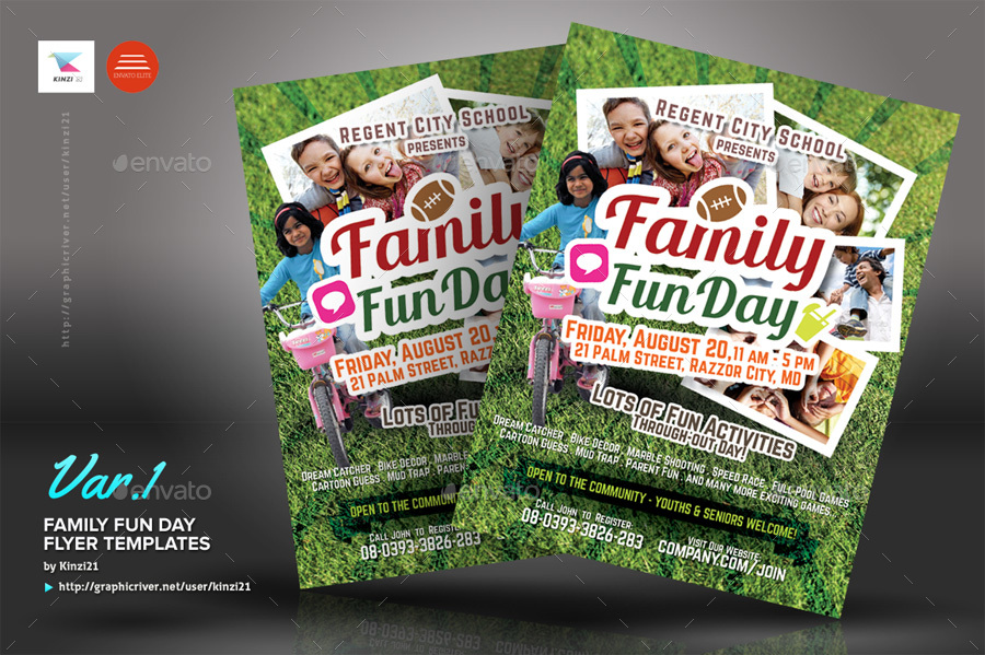 family fun day flyers by kinzi21