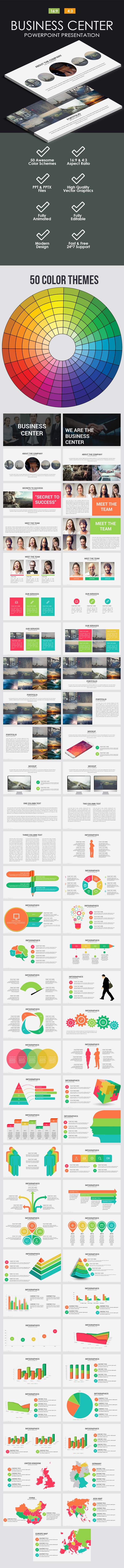 Business Center Powerpoint Template - Business PowerPoint Templates