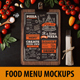 Food Menu Mockups - GraphicRiver Item for Sale