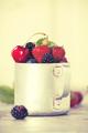Berries in a rustic mug - PhotoDune Item for Sale