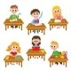 Elementary School Kids in Classroom - Reading - GraphicRiver Item for Sale