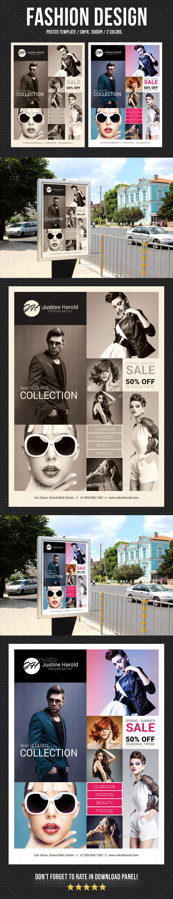 Fashion Poster 05 - Signage Print Templates