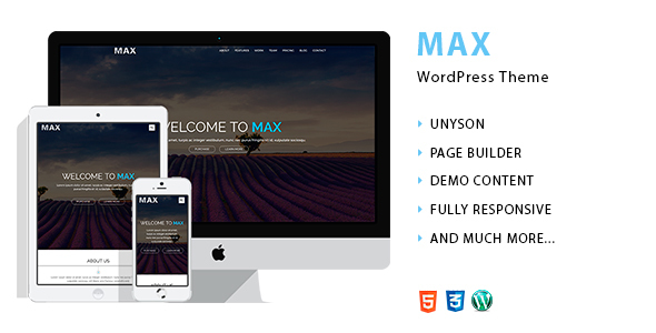 Max – Web Agency WordPress Theme (WordPress) images