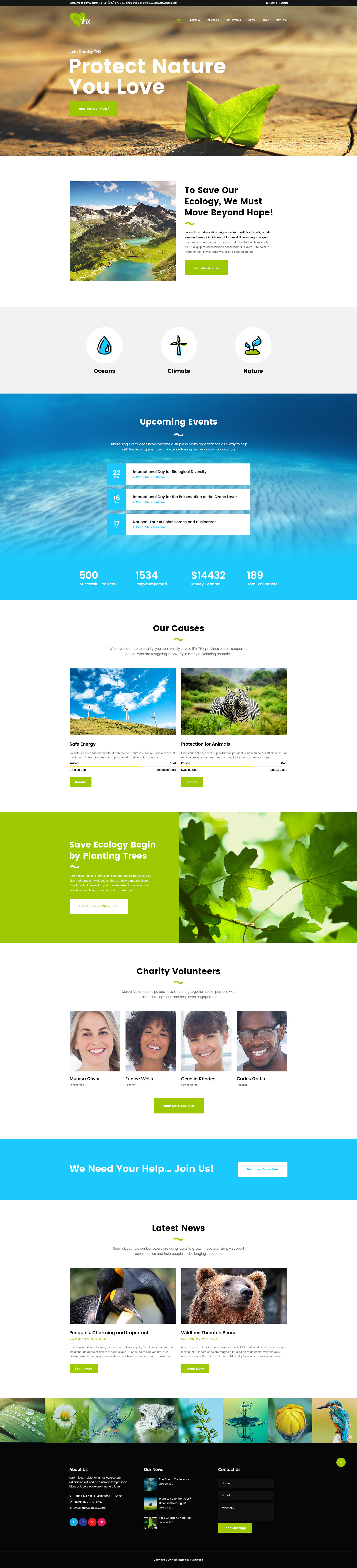 THX - Charity & donation PSD Template by fruitfulcode | ThemeForest