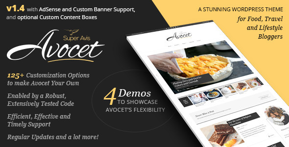 Avocet WordPress Blog Theme - for Lifestyle, Food, Travel and Fashion Bloggers - Blog / Magazine WordPress