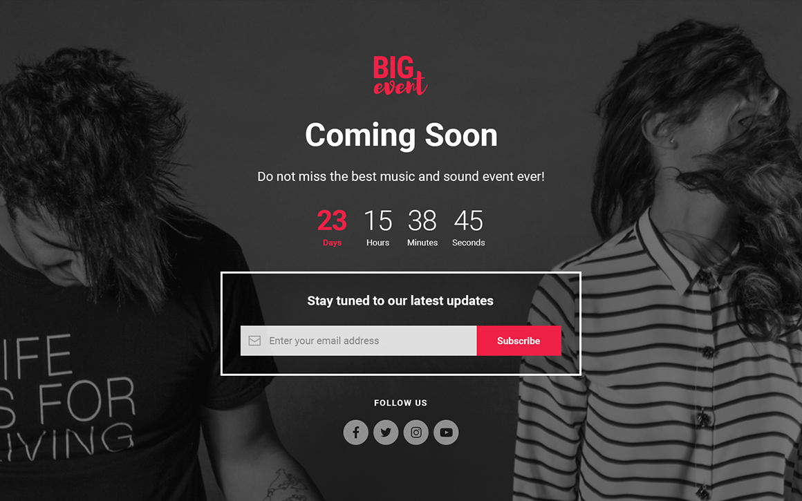 BigEvent Landing Page HTML Template by coverry | ThemeForest