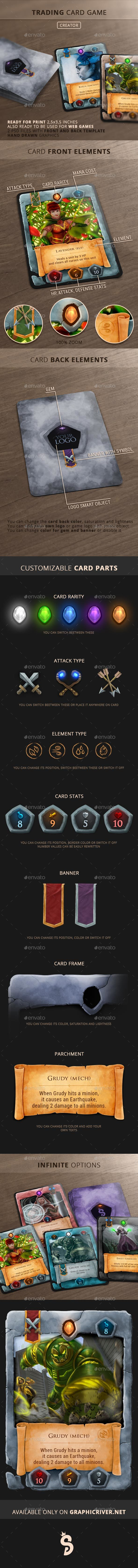 Trading Card Game - Creator - Miscellaneous Print Templates