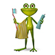 3d Illustration Frog with Toothpaste Nulled